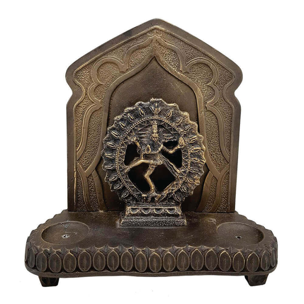 Aparador Shiva porta incenso detalhes alto relevo.
