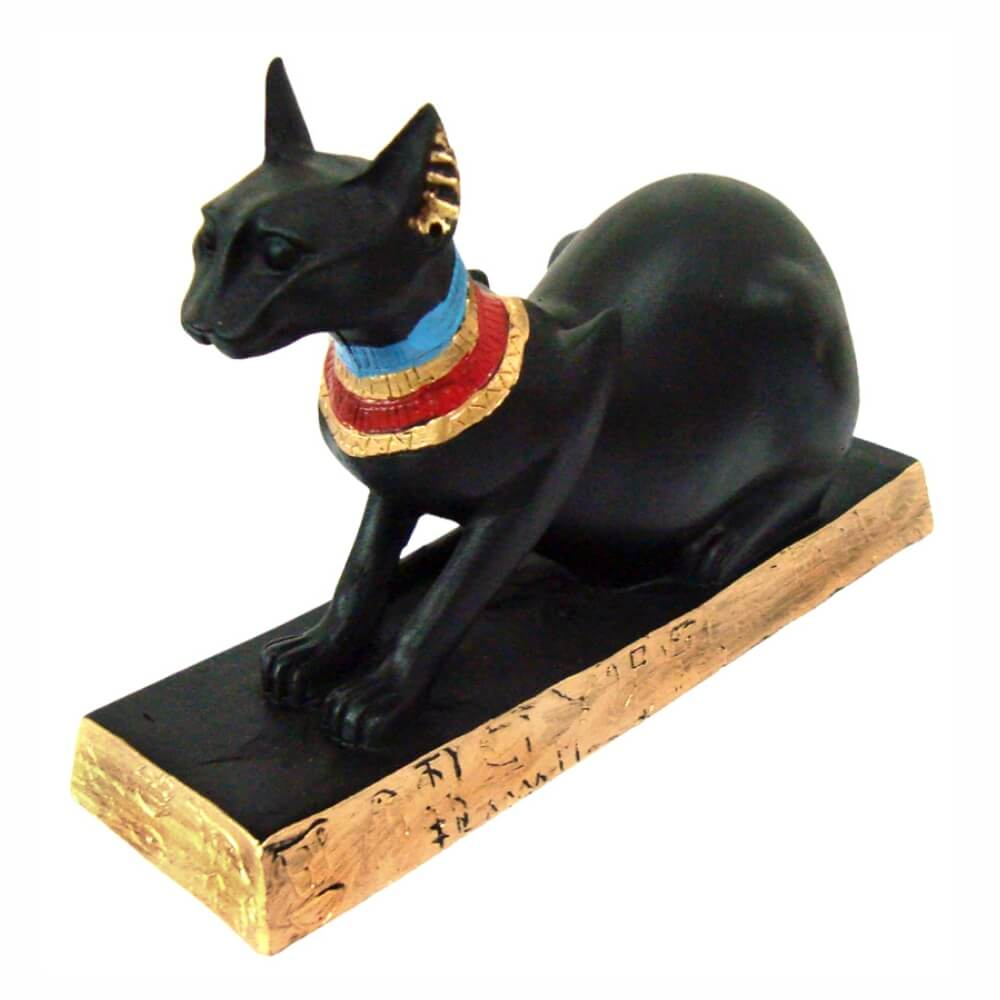 BASTET BAST UBASTI BA-EN-ASET OU AILUROS Gato Egípcio Deitado