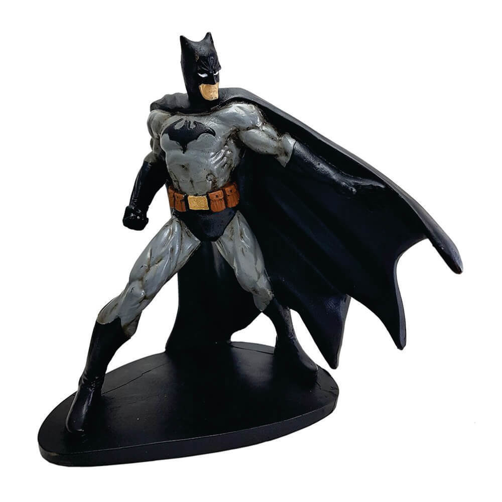 Batman em ação capa Boneco resina Estátua decoração