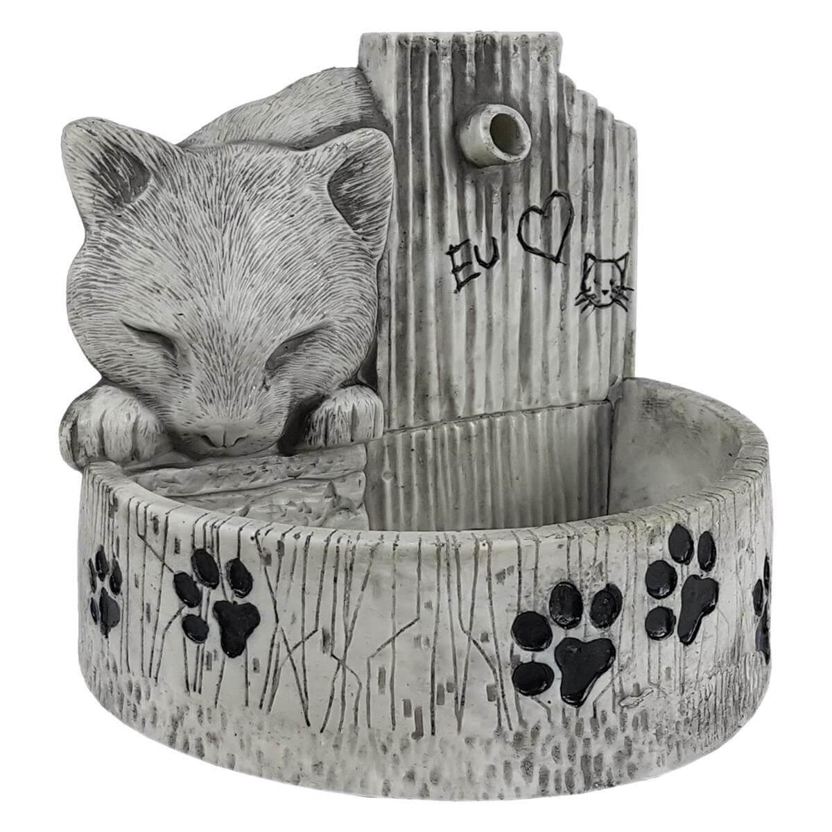 Bebedouro e fonte de água para gatos prime Cinza Bivolt