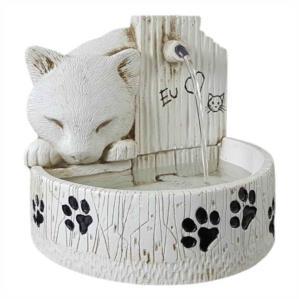 Bebedouro e fonte de água para gatos prime cor Branca 127V