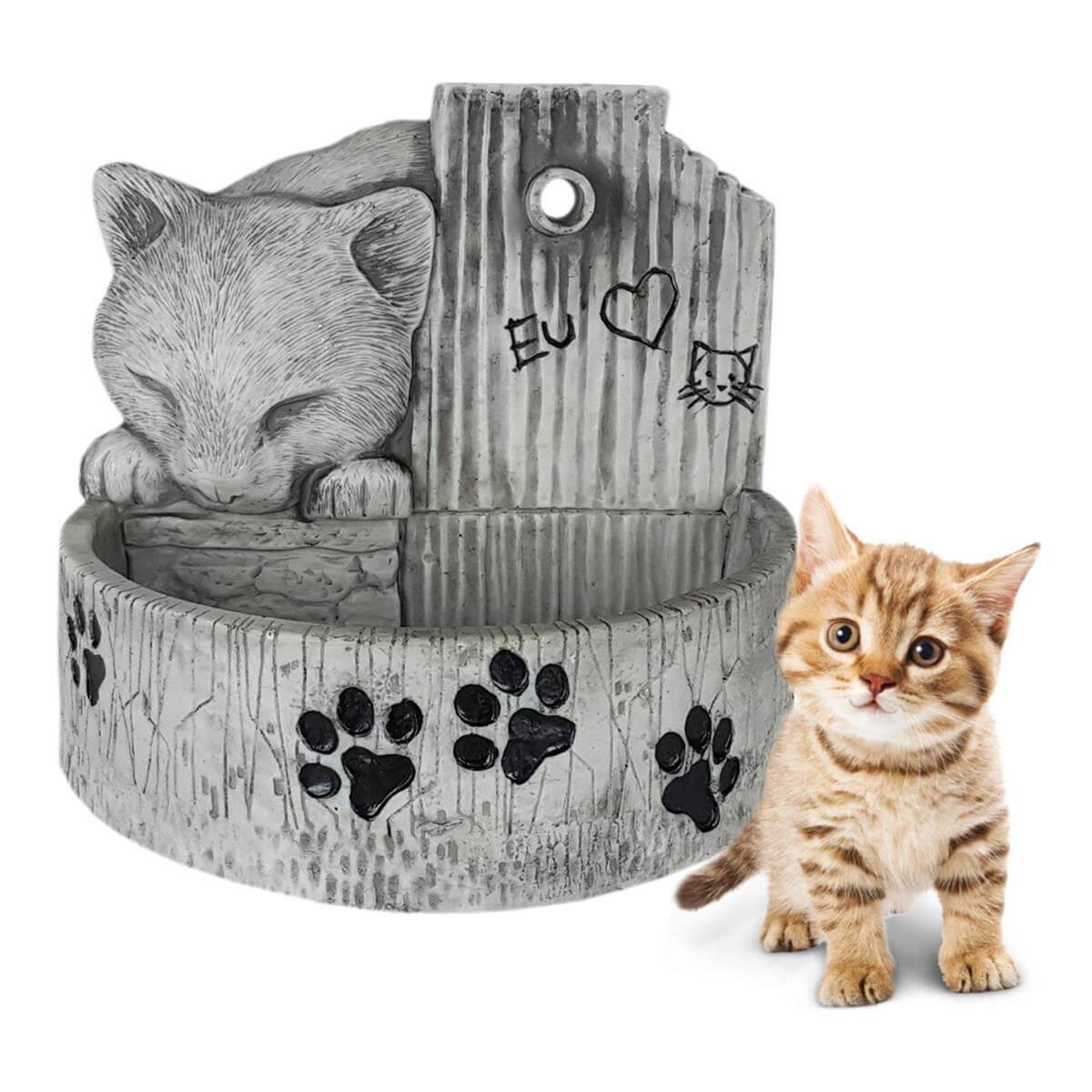 Bebedouro e fonte para gatos prime Cinza 127 V