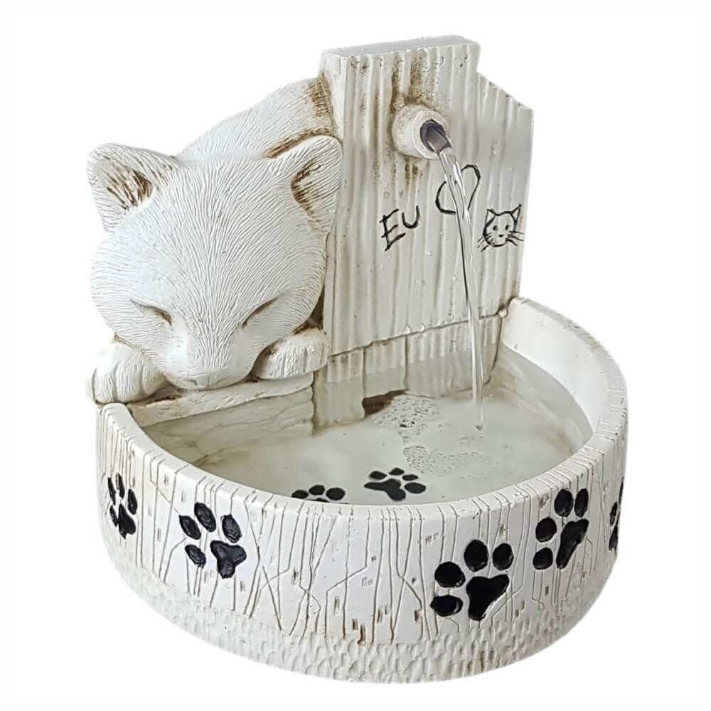 Bebedouro fonte de água para gatos prime Branca Bivolt