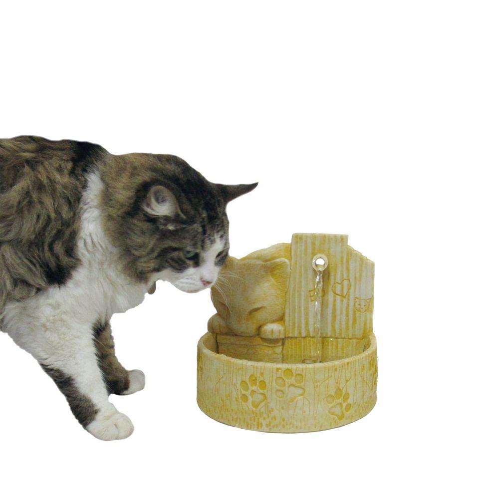 Bebedouro fonte para gatos prime Amarelo 110 V ou 220 V.