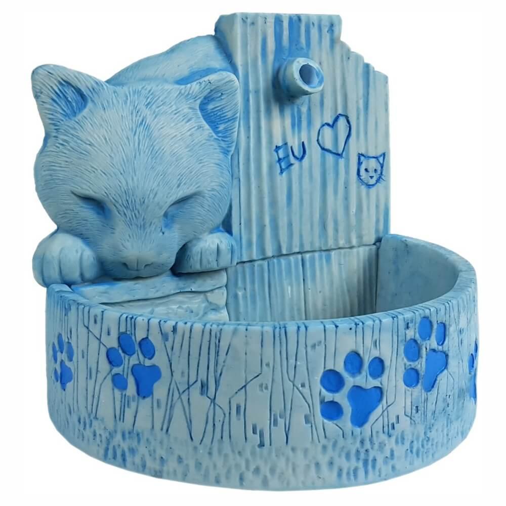 Bebedouro fonte para gatos prime Azul 110 V ou 220 V.