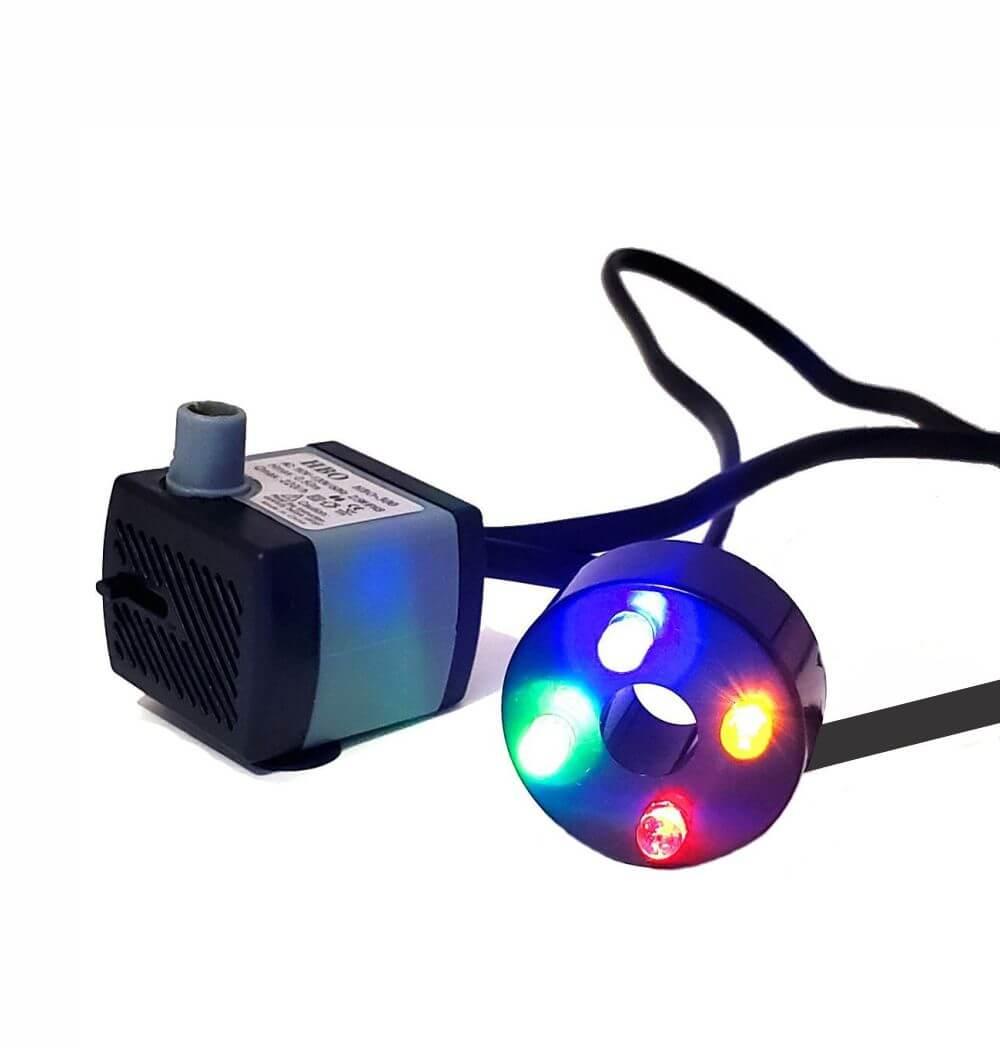 Bomba Submersa com luz colorida Fontes E Aquários 220 V