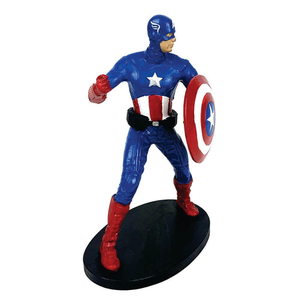 Boneco Capitão América Resina Pequeno.