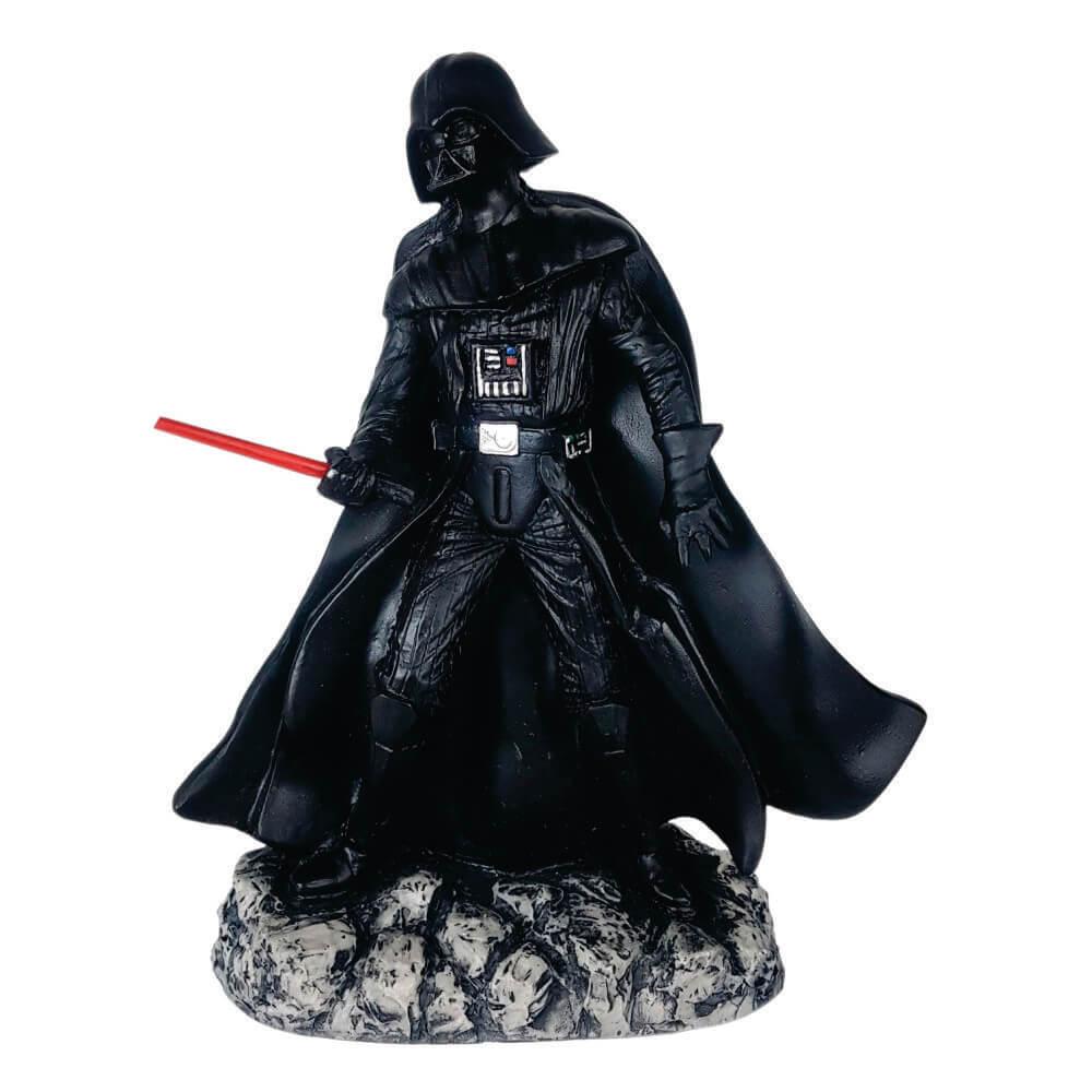 Boneco Darth Vader com sabre resina Decoração.