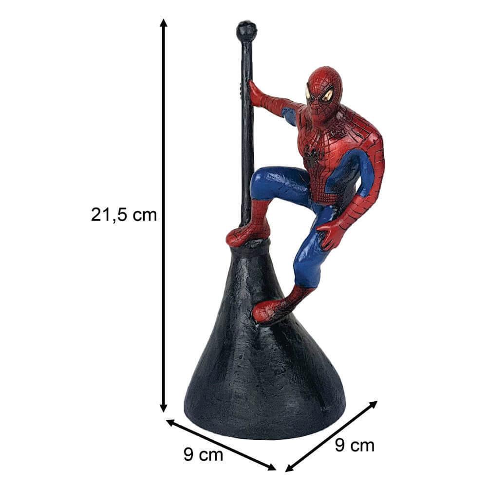 Homem Aranha na torre poste resina estátua decoração.