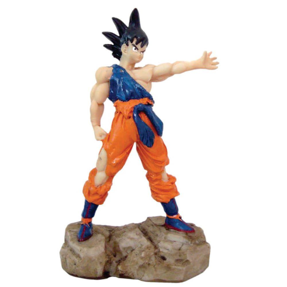 Boneco Goku Dragon Ball z Estátua Resina decoração.