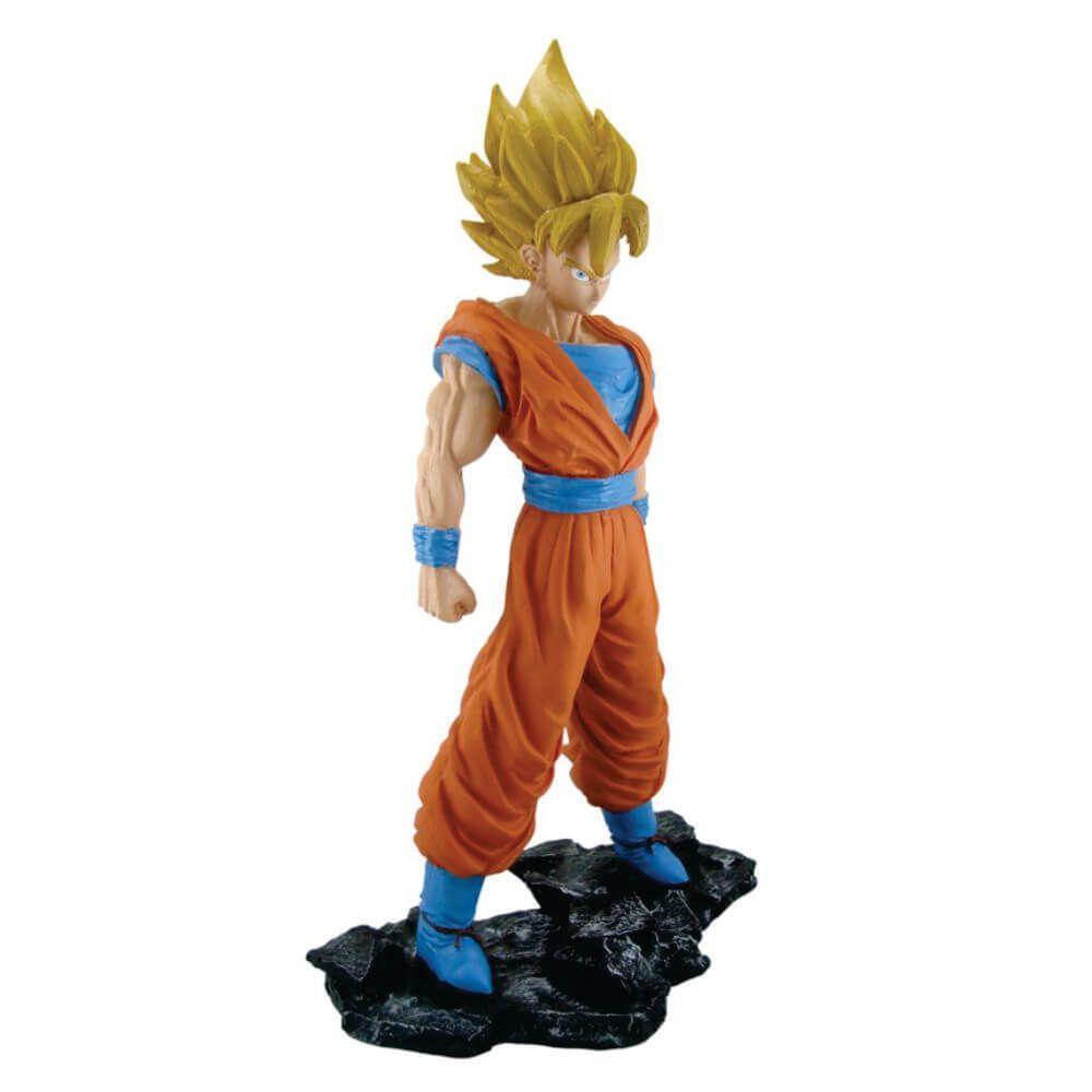 Boneco Goku Super Sayadin Dragon Ball z resina decoração.