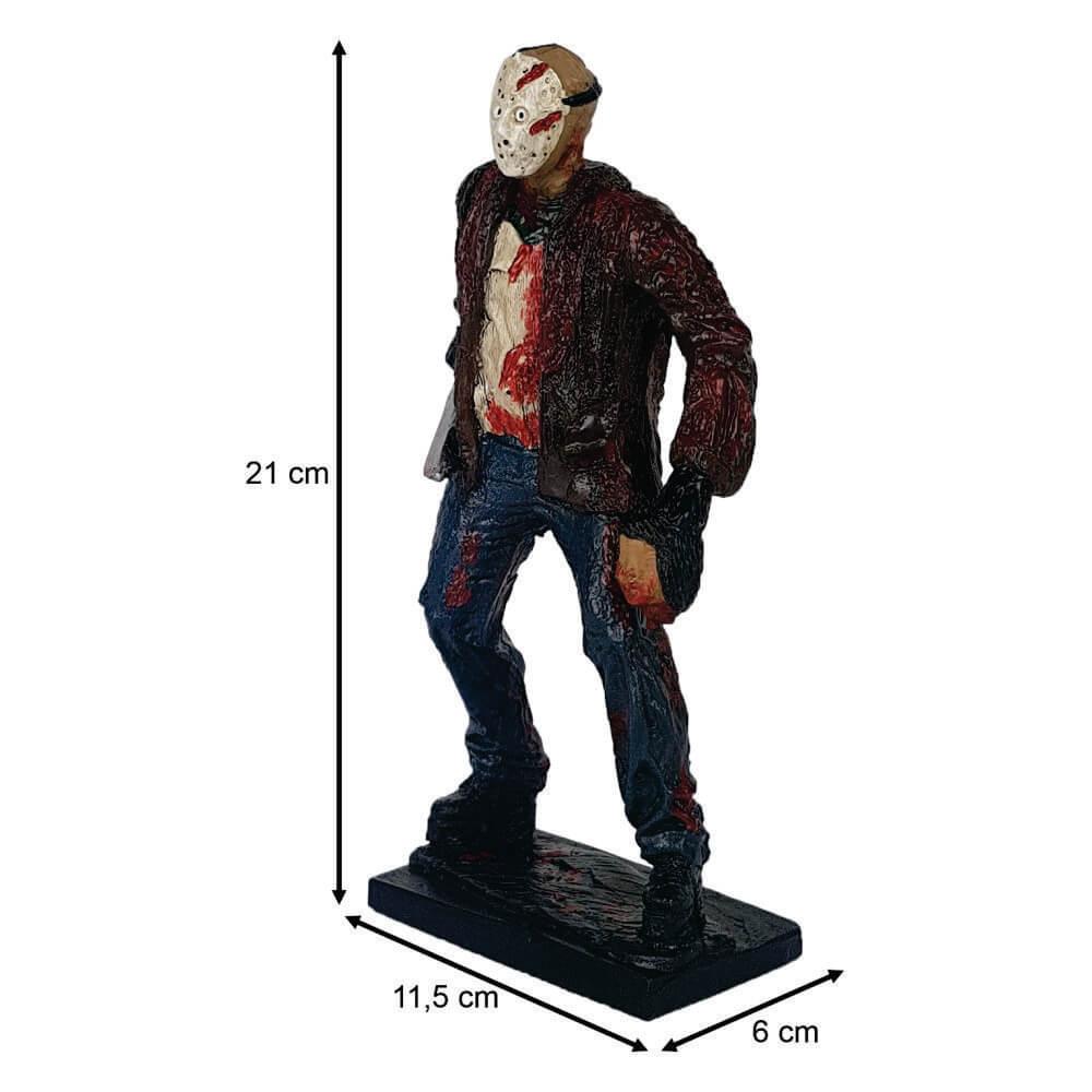 Boneco Jason com faca na mão