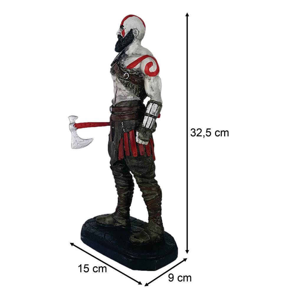Boneco Kratos pai com machado caçador