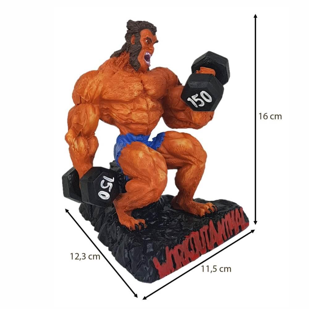 Boneco Rosca Alternada Wolverine decoração estátua.
