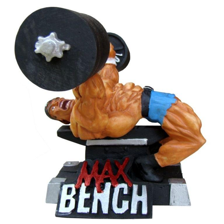 Boneco supino academia musculação decoração estátua.