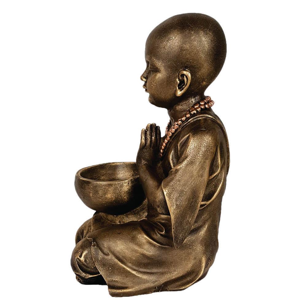 Buda Menino Estátua Com Vaso Cumbuca grande.