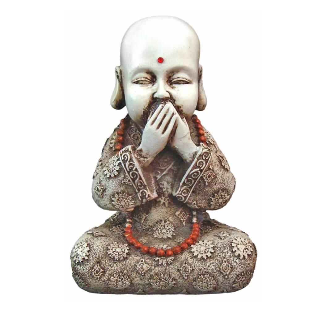 Buda Chines Sábio Mudo estátua decoração.