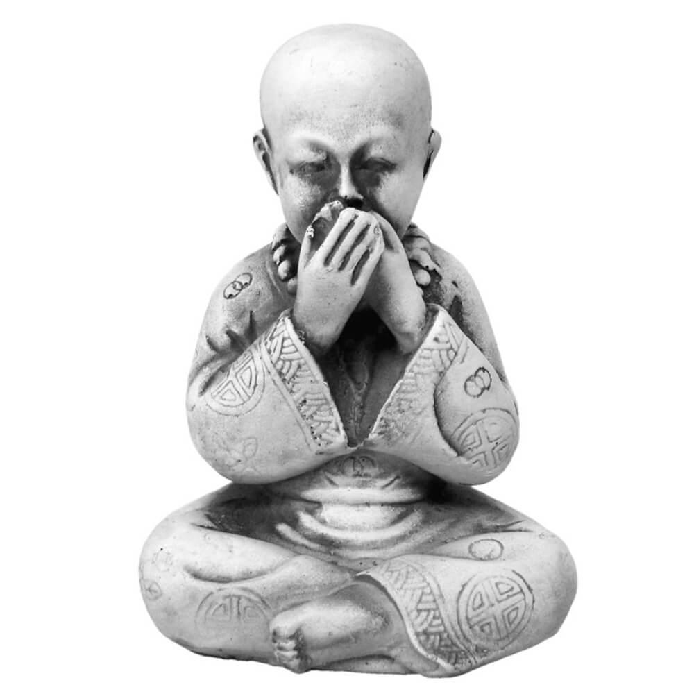 Buda Chinês Sábio Mudo Estátua Decoração.