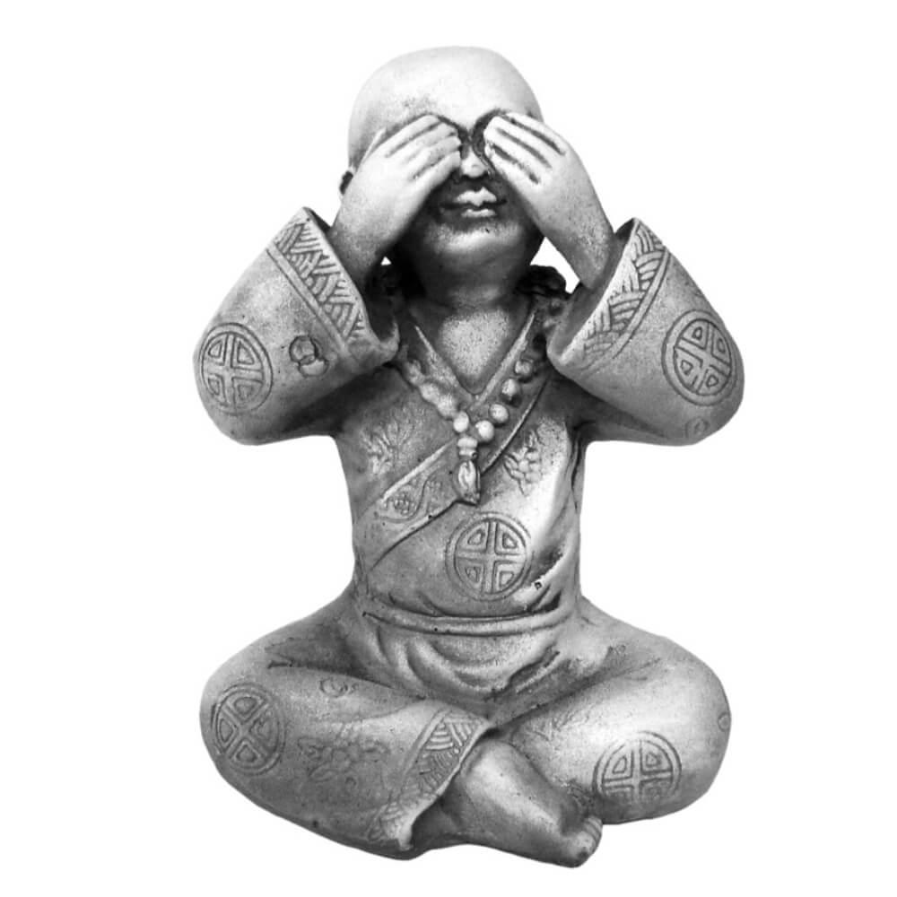 Buda Chinês Sábio Cego estátua decoração.