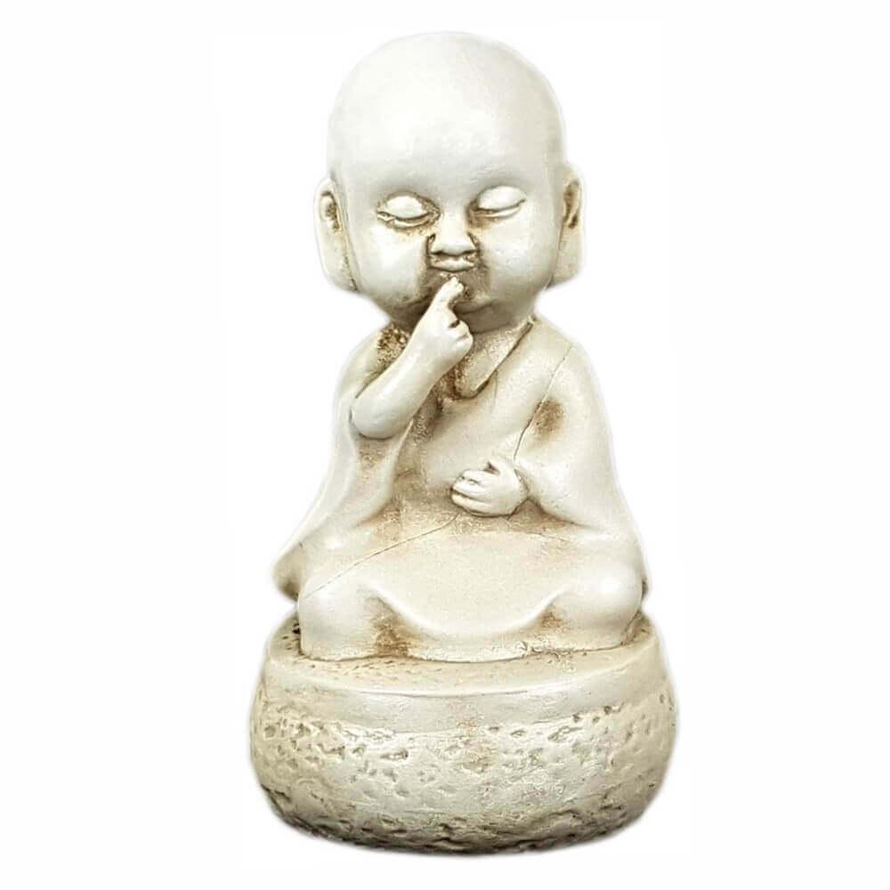 Buda Chinês sábio Mudo Pequeno Estátua.