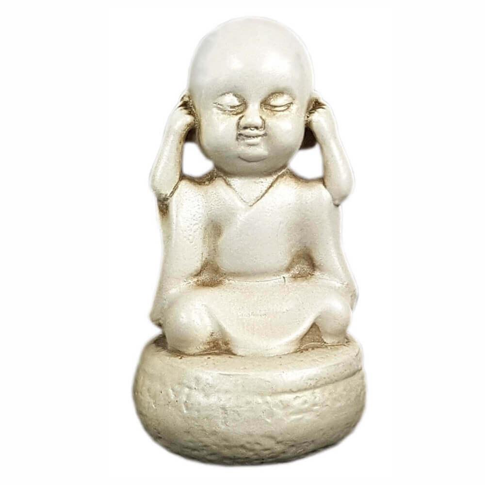 Buda Chinês Sábio Surdo Pequeno decoração.