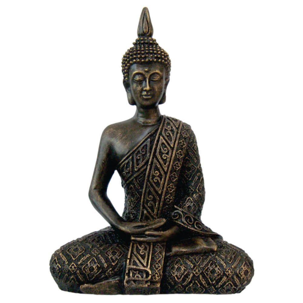 Buda Hindu Tailandês Tibetano Sidarta Ouro envelhecido.