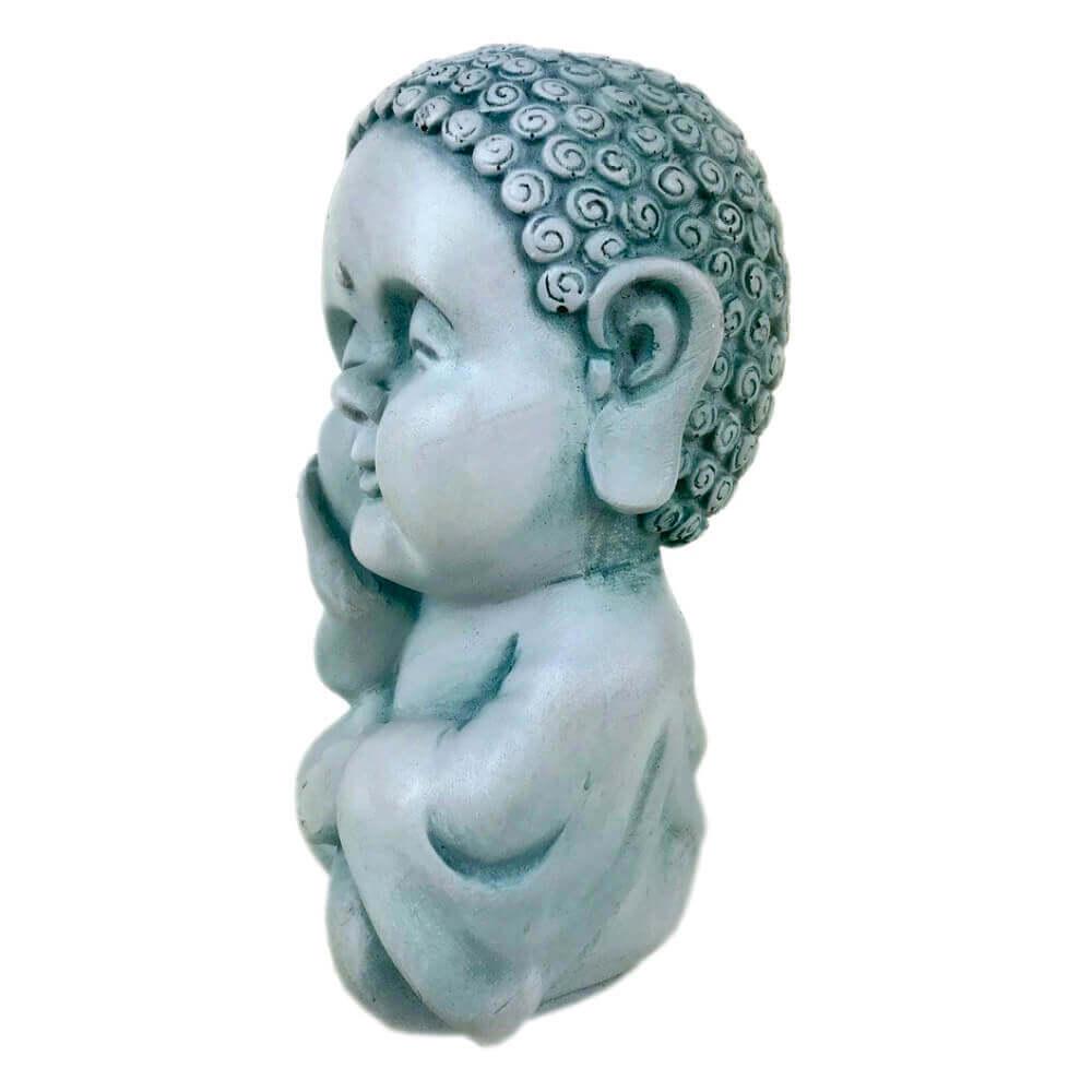 Buda Hindu menino Estátua decoração Azul claro.