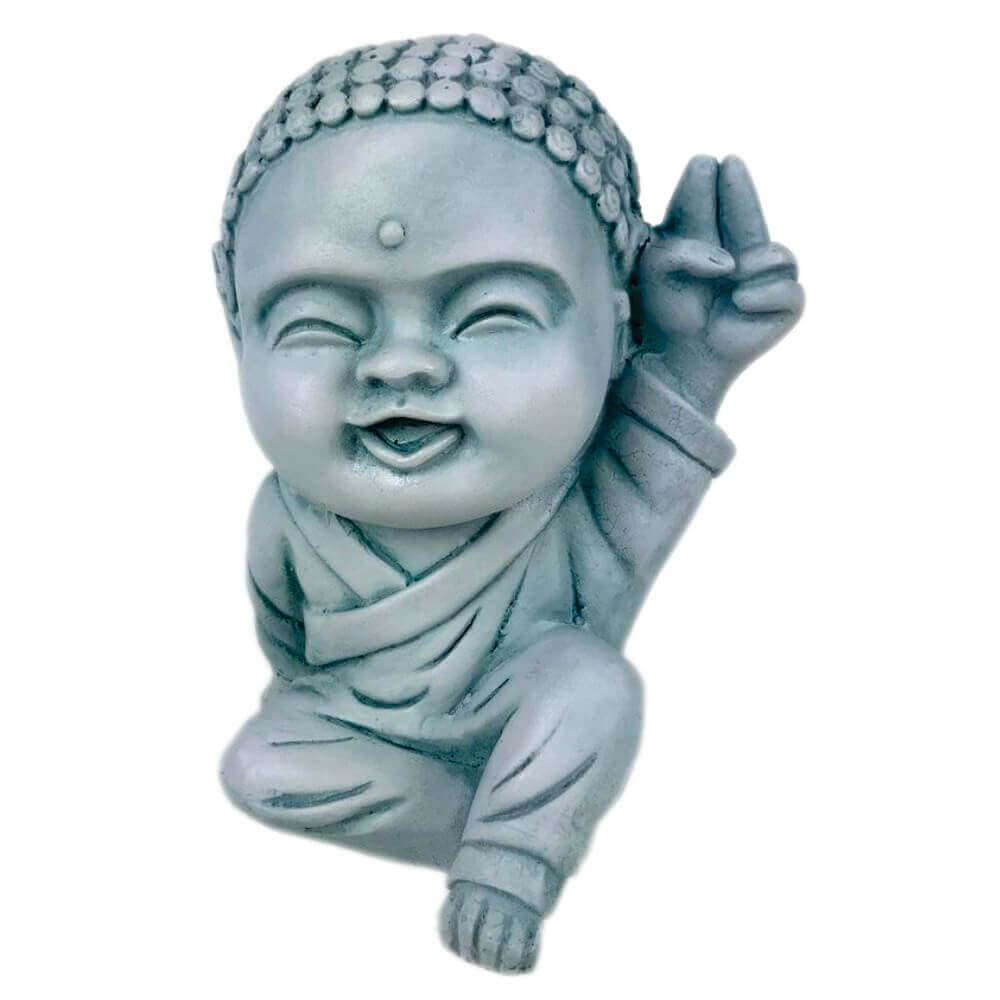 Buda Hindu menino mão para o Alto Estátua decoração.