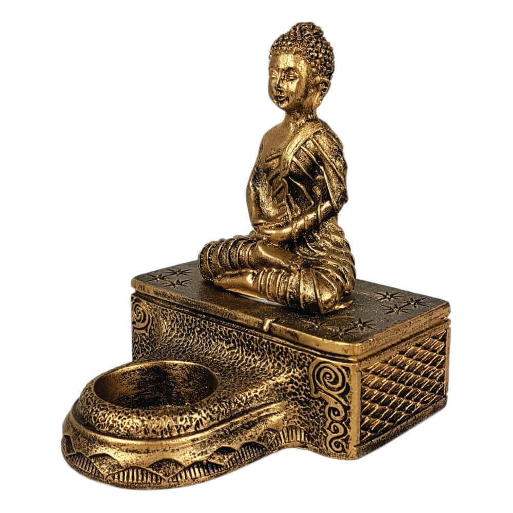 Buda Hindu com castiçal Estátua Decoração.