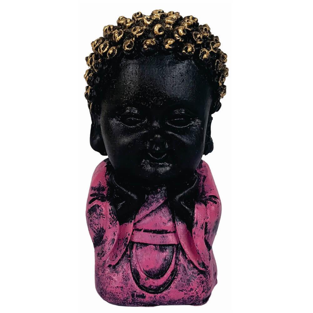 Buda Criança menino Fé rosa Estátua decoração