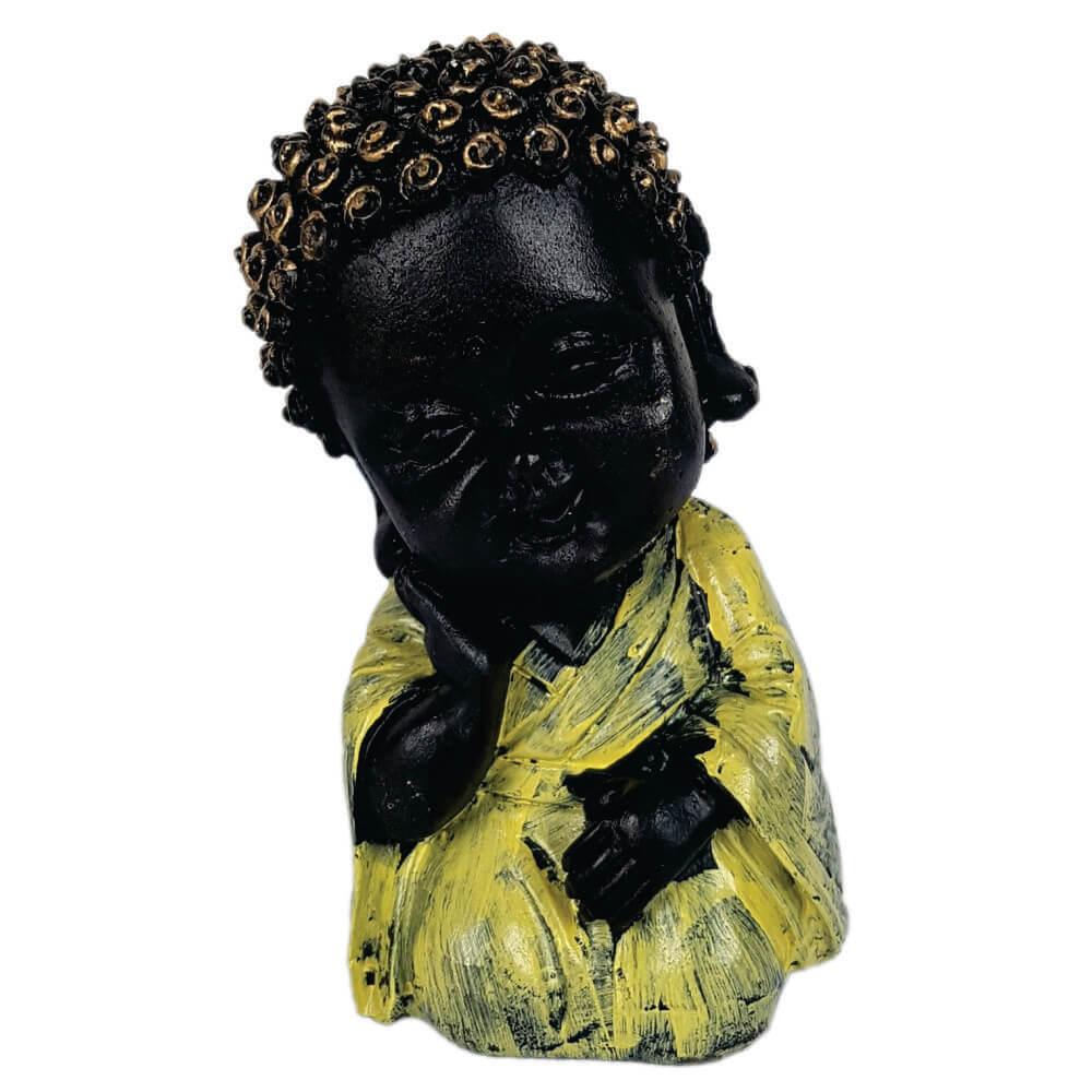 Buda criança Menino Sabedoria Estátua decoração.