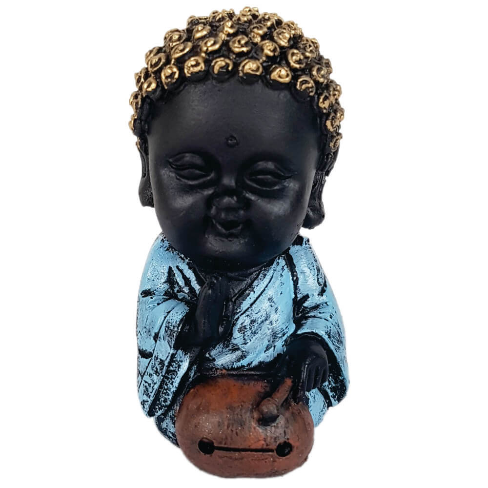 Buda Criança Menino saúde Estátua decoração.