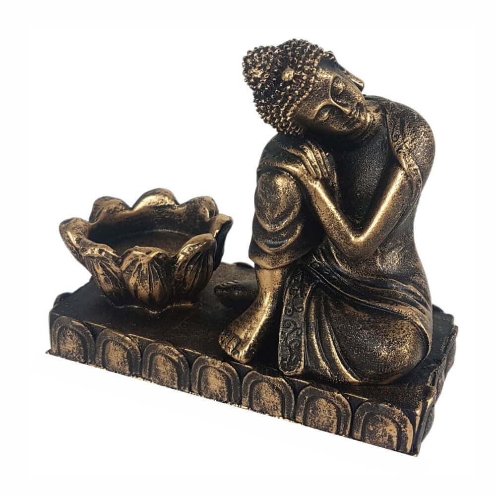 Buda Tailandês com castiçal Estátua decoração.