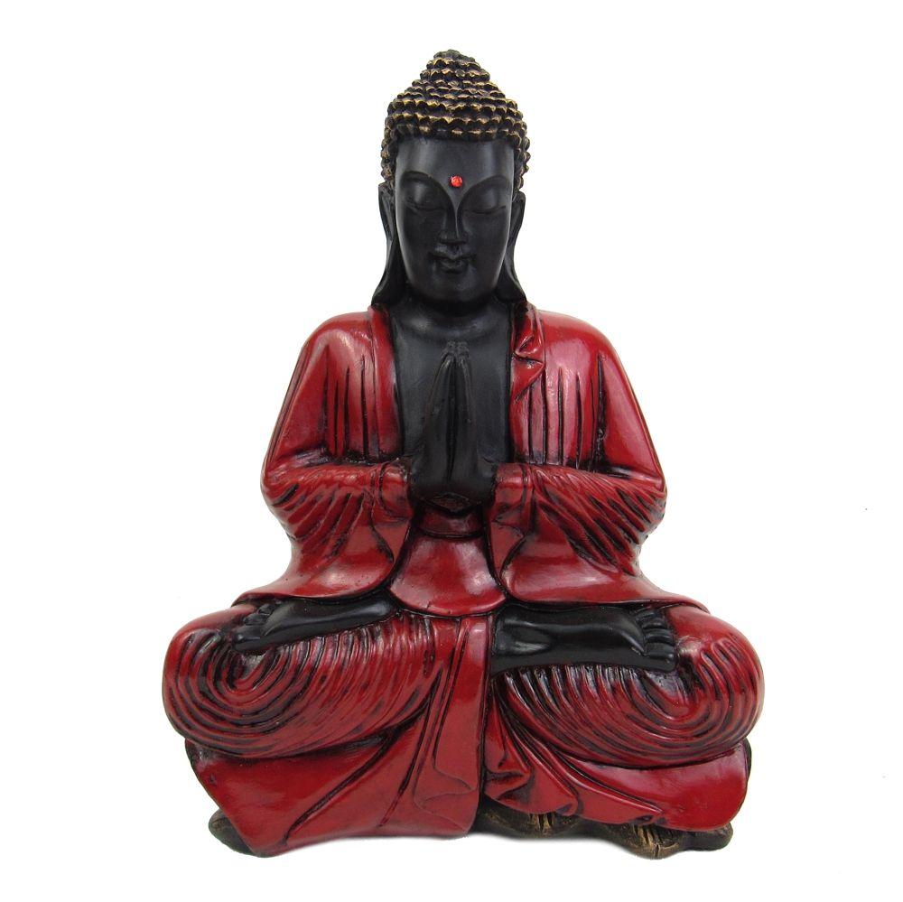 Buda Tibetano Gigante Vermelho Rubi Estátua.