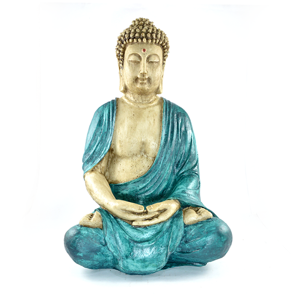 Buda Tibetano grande Verde Estátua.