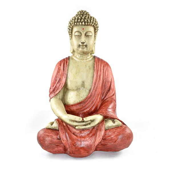 Buda Tibetano Grande Vermelho estátua.