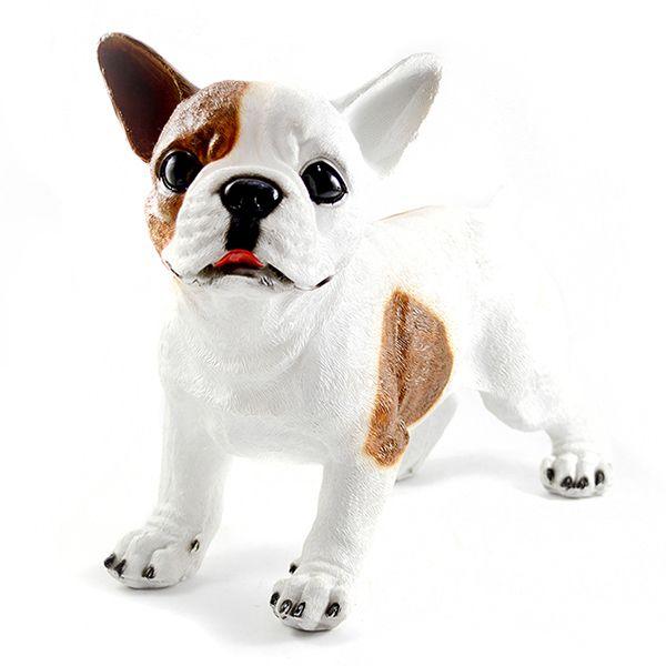 Bulldog Frances Branco com manchas Marron