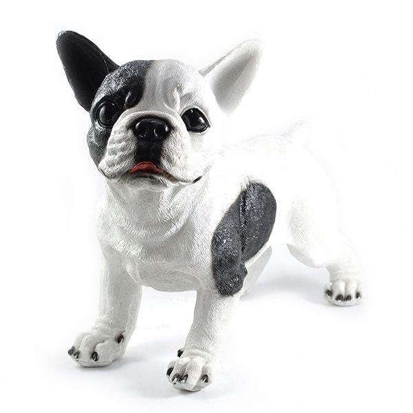 Bulldog Frances Branco com manchas Preta