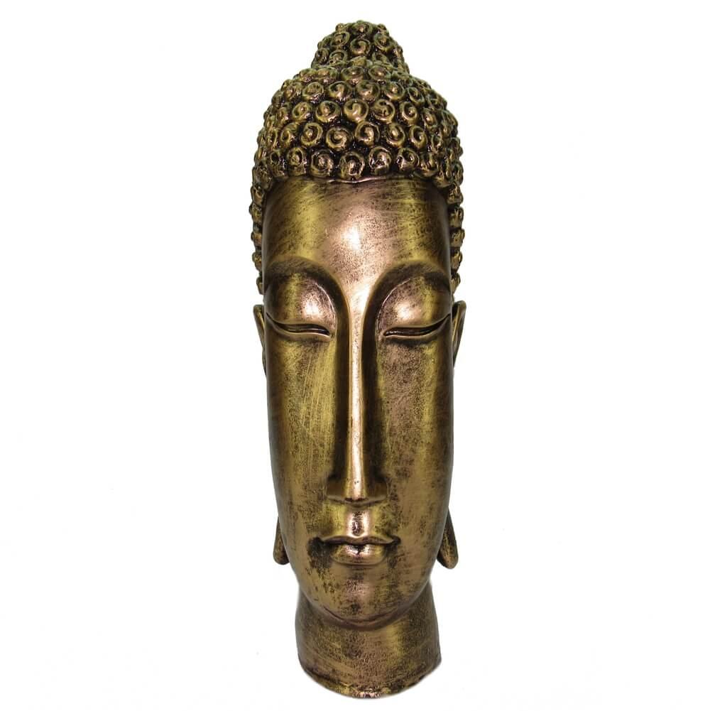 Cabeça Buda Hindu Grande decoração Estátua Estatueta.