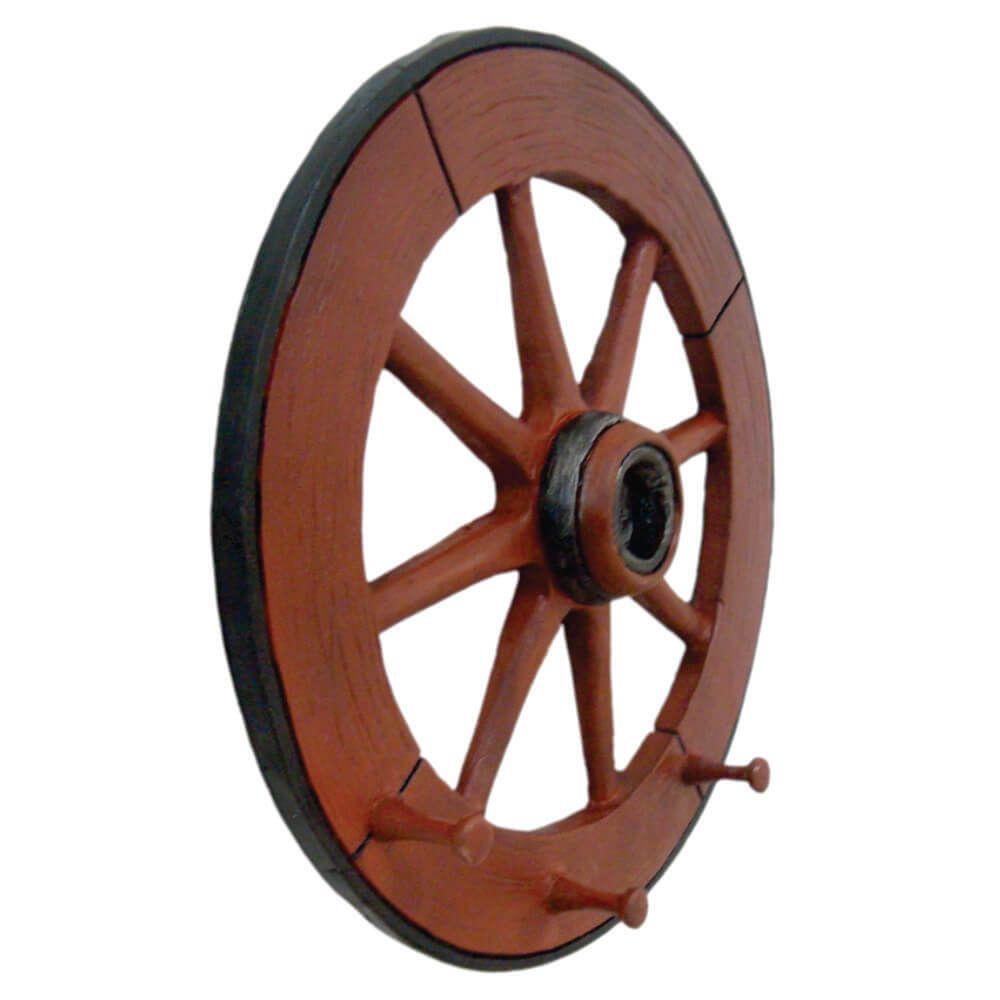 Cabideiro de parede Roda de carroça rústico grande.