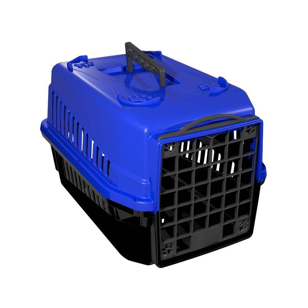 Caixa de transporte cachorro ou gato pequeno porte Nº1 Azul