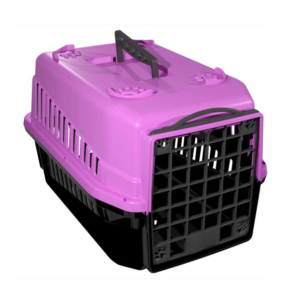 Caixa de transporte cachorro ou gato Nº1 Rosa.