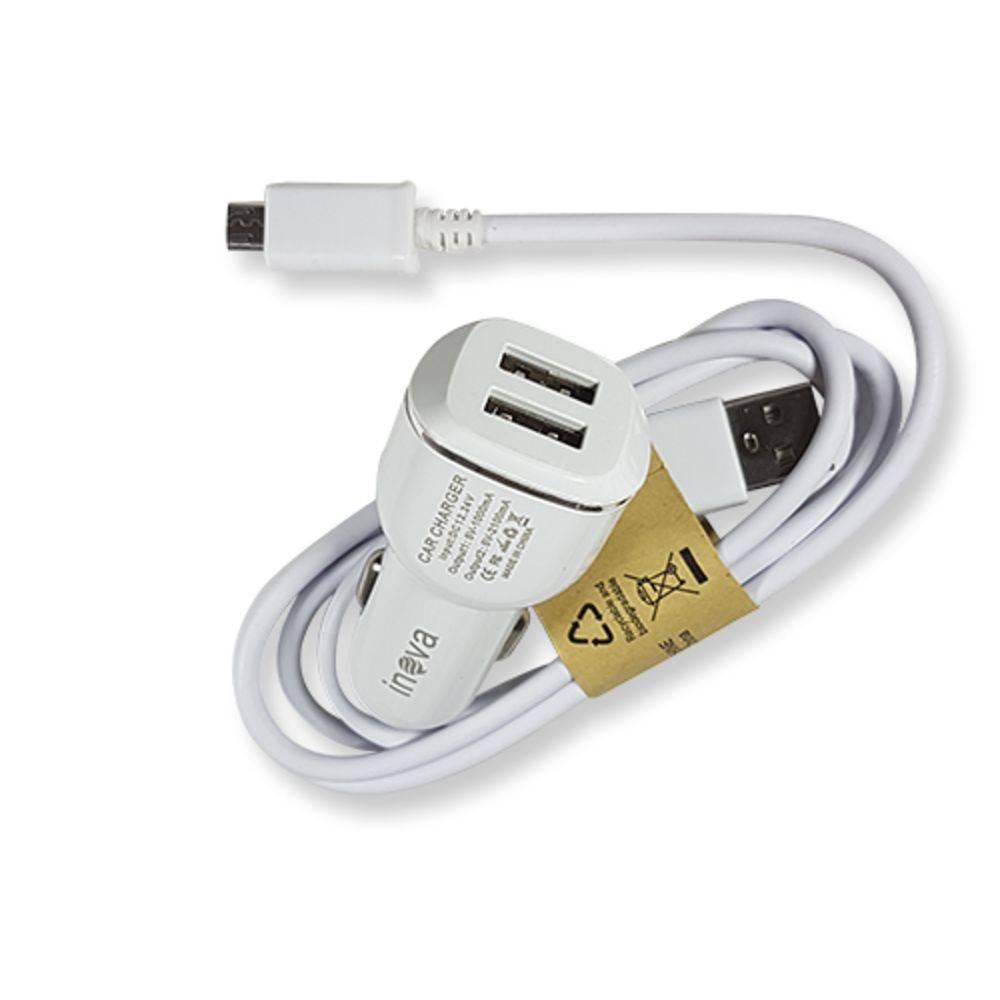 Carregador Celular Veicular automotivo V8 2.1a Rápido 2 Saída USB extras