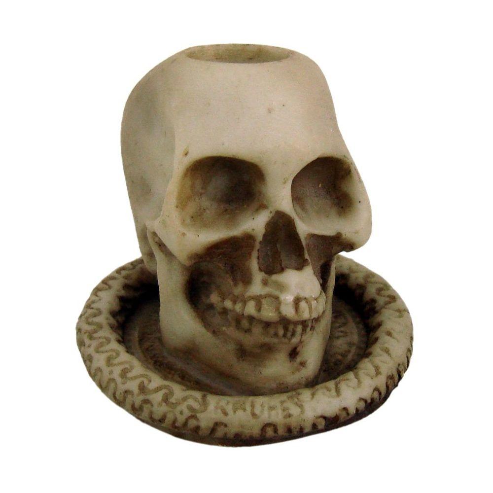 Castiçal Crânio caveira Pequeno na base.