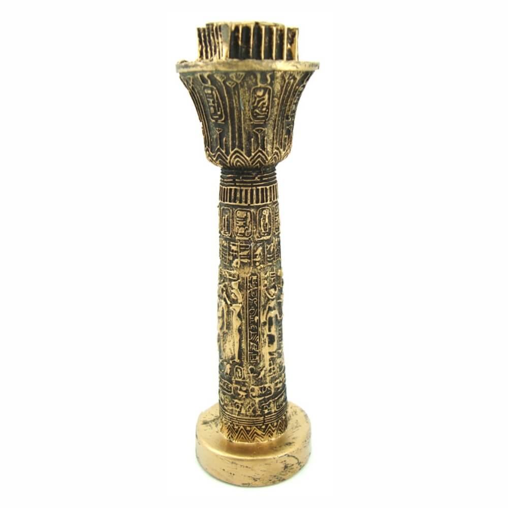 Castiçal figuras do egito egipcío pequeno.