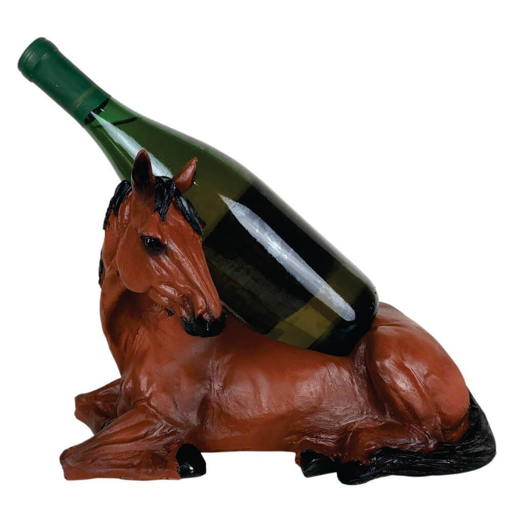Cavalo Porta vinho Horse Decoração Marrom .