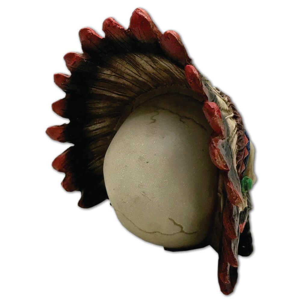 Caveira Crânio indígena com Cocar grande.
