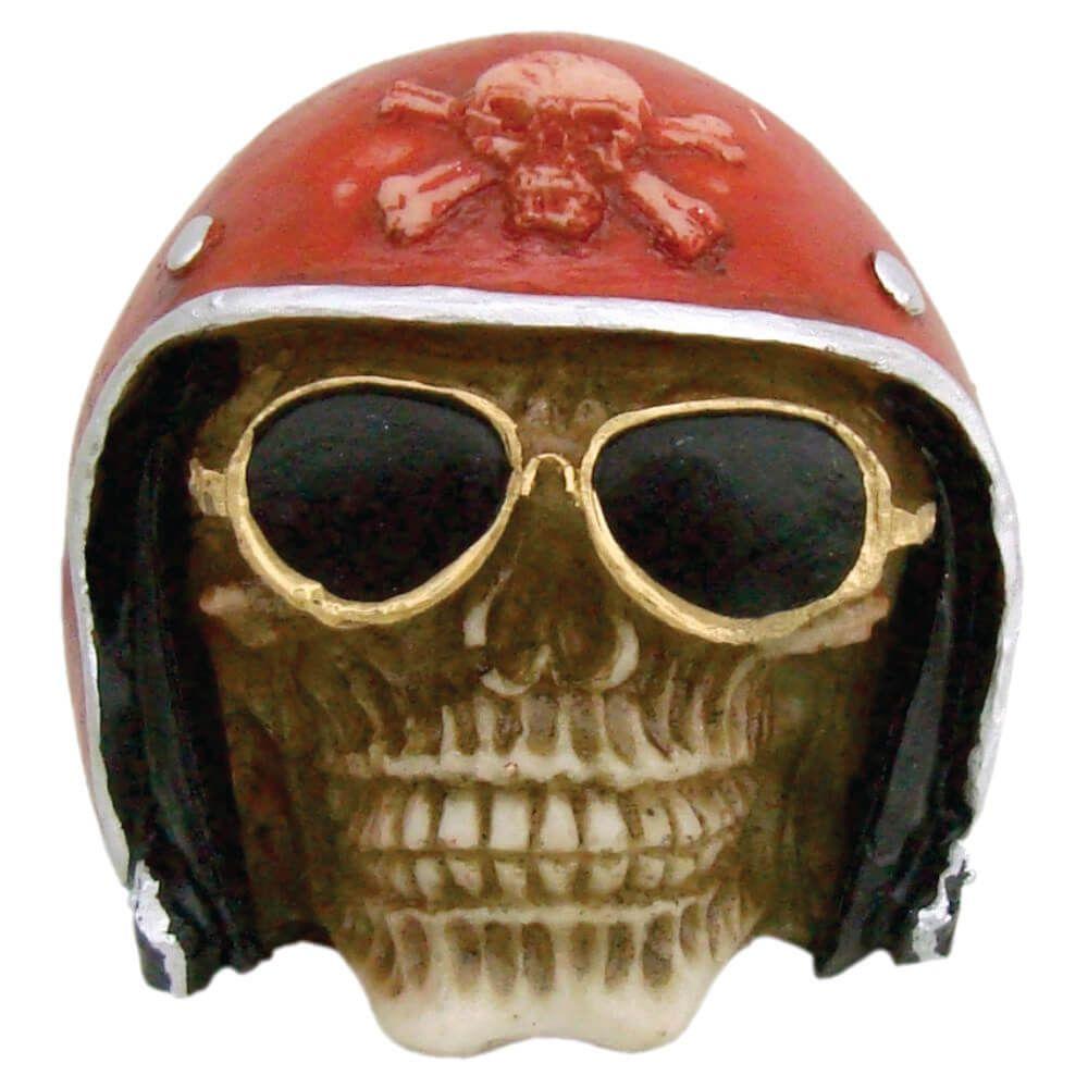 Caveira Crânio Motoqueiro Com Óculos Pequeno.