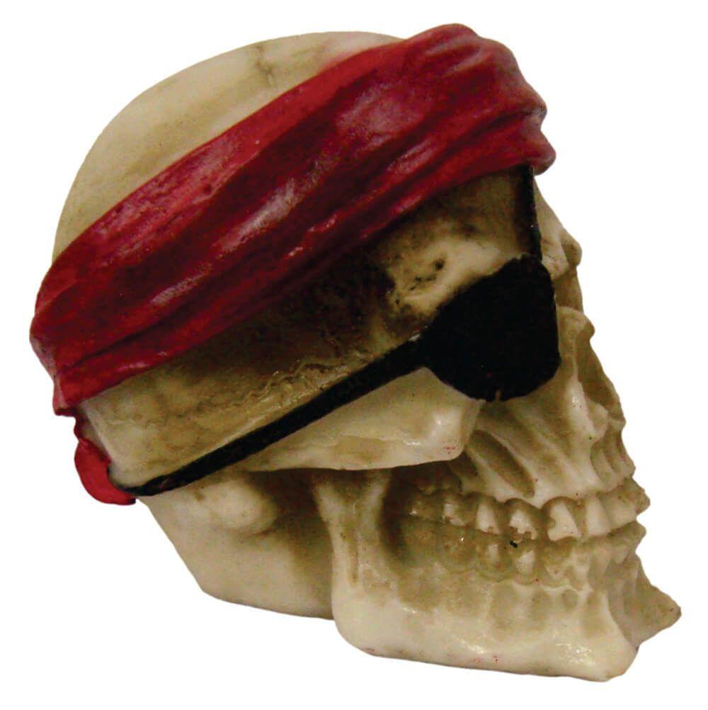 Caveira Crânio Pirata tapa olho Pequeno.