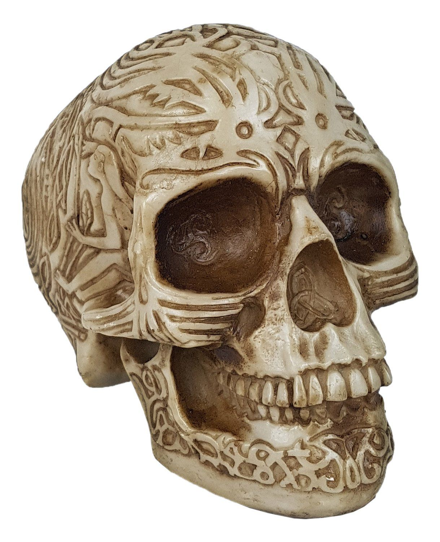 Caveira Crânio Tribal Inca Pequeno.